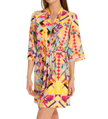 Josie by Natori Sleepwear Rive Gauche Chic Printed Jersey Robe