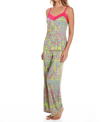 Josie by Natori Sleepwear Glamour Floral Jersey Cami Pajama Set