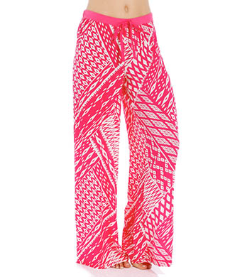 Josie by Natori Sleepwear Ikat Printed Challis Pajama Pant