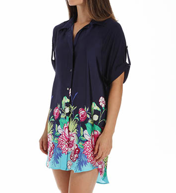 Josie by Natori Sleepwear Rimma Printed Satin Tunic