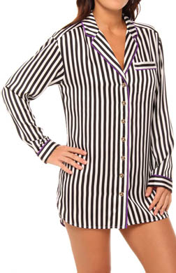 Juicy Couture Dot And Stripe Sleep Shirtdress