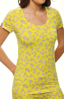 Juicy Couture Model Jersey Clover Heart Print Tee