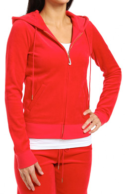 Juicy Couture Velour J Bling Long Sleeve Zip Hoodie