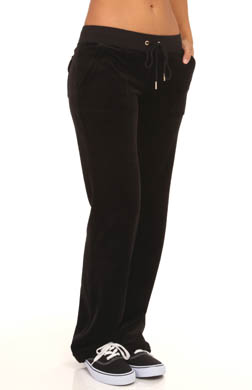 Juicy Couture Velour J Bling Bootcut Pant With Snap Pockets