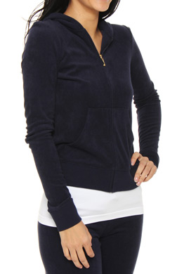 Juicy Couture Terry Basics Long Sleeve Hoodie