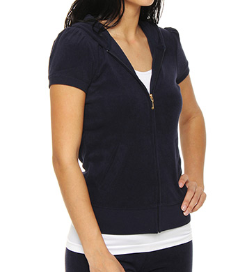 Juicy Couture Terry Puff Short Sleeve Hoodie