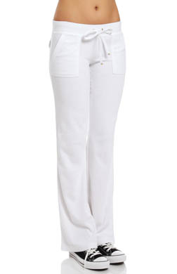 Juicy Couture Terry Flared Leg Pant With Snap Pocket