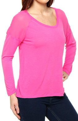 Juicy Couture Rayon Tee with Georgette Yoke
