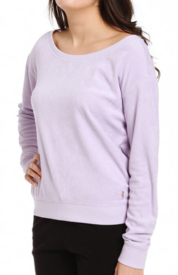 Juicy Couture Terry Basics Relaxed Pullover Top