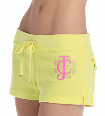 Juicy Couture Terry Flower Burst Snap Pocket Short