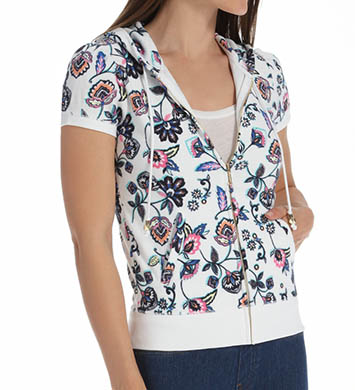 Juicy Couture Costa Blanca Terry Short Sleeve Jacket