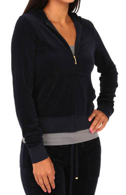 Juicy Couture Velour Long Sleeve Zip Hoodie