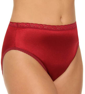 Just My Size Plus Size Nylon Hi Cut Panties - 4 Pack
