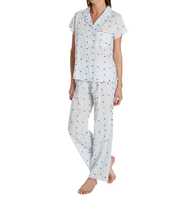 KayAnna Daisy Embroidery Short Sleeve PJ Set