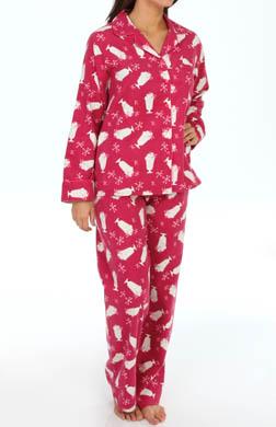 KayAnna Milkshake Flannel PJ Set