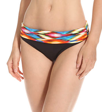 Kenneth Cole Swimwear Upon The Horizon Sash Hipster Fold Swim Bottom