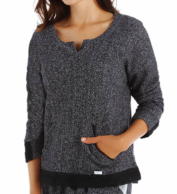 Kensie Solid French Terry Pullover