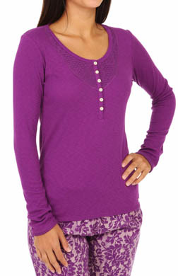 Kensie Weekend Warmup Long Sleeve Top