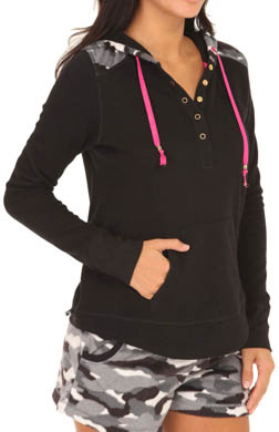 Kensie Chilled Out Long Sleeve Hooded Top