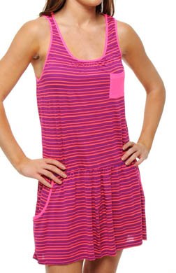 Kensie Neon Tide Yarn Dye Tank Dress