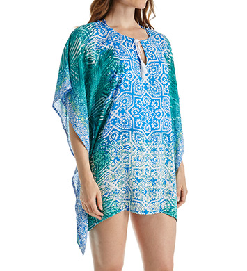 La Blanca Tile We Meet Again Caftan Swim Cover Up