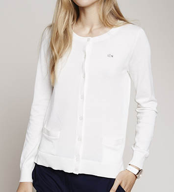 Lacoste Long Sleeve Crewneck Cardigan