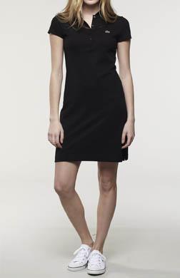 Lacoste Short Sleeve 5 Button Stretch Pique Polo Dress