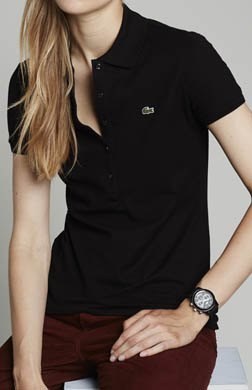 Lacoste Short Sleeve 5 Button Stretch Pique Polo