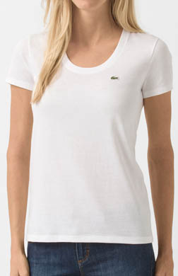 Lacoste Short Sleeve Scoopneck T-Shirt