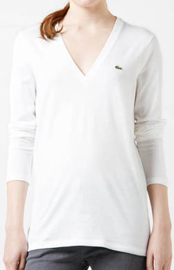 Lacoste Long Sleeve Jersey V-Neck T-Shirt