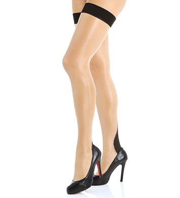 L'Agent by Agent Provocateur Back Seam Thigh High Stockings