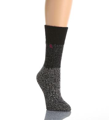 Lauren Ralph Lauren Holiday Fuzzies Angora Cable Twist Boot Sock