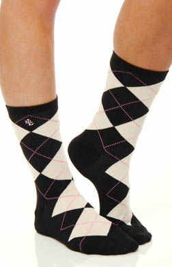 Lauren Ralph Lauren Argyle and Solid Trouser Sock - 2 Pair Pack