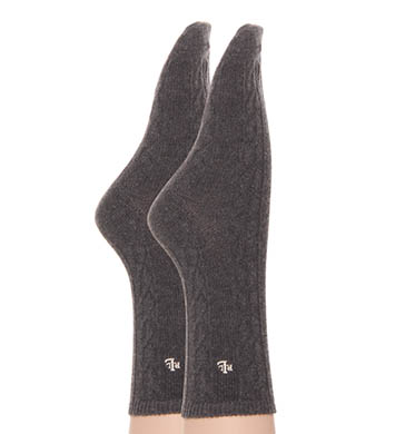Lauren Ralph Lauren Cable Poly Blend Trouser Socks - 2 Pair Pack