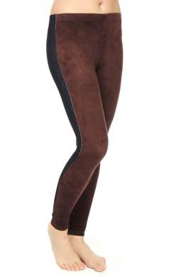Lauren Ralph Lauren Micro Suede Front Denim Legging