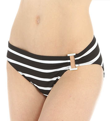 Lauren Ralph Lauren Lurex Stripe Ring Front Hipster Swim Bottom