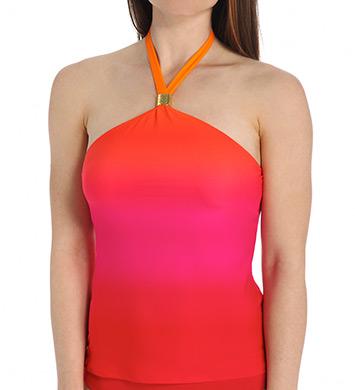 Lauren Ralph Lauren Island Ombre High Neck Wireless Tankini Swim Top