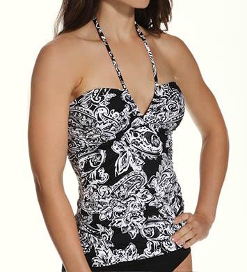 Lauren Ralph Lauren Deauville Paisley V-Neck Bandini Slimming Swim Top