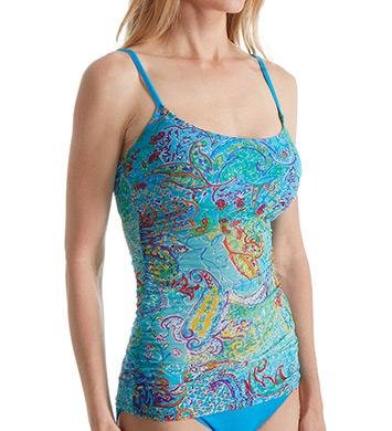 Lauren Ralph Lauren Maharaja Paisley Lingerie Strap Tankini Swim Top