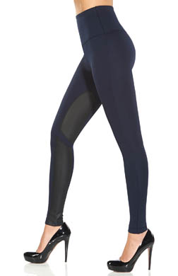 Lysse Leggings Ponte Pleather Equestrian