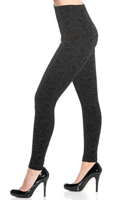 Lysse Leggings Fashion Brocade Flocked Ponte