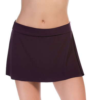 MagicSuit Solid Jersey Pull On Tennis Skirt Swim Bottom