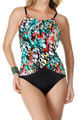 MagicSuit Anaconda Lisa Draped Jersey One Piece Swimsuit