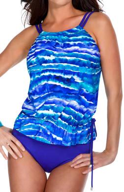 MagicSuit Santorini Jodi Blouson Tankini Swim Top