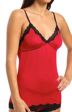Mary Green Silk Knit Longer Camisole With Defined Cups