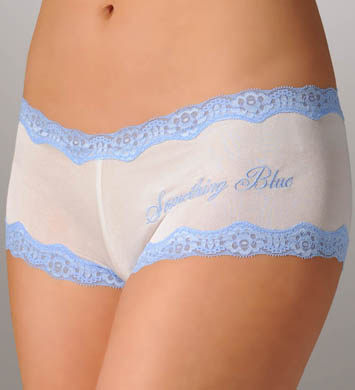 Mary Green Something Blue Silk Knit Bridal Boyshort Panty