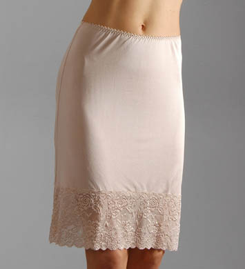 Mary Green Silk Knit 21 Inch Half Slip With Lace