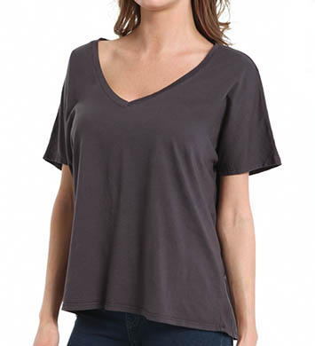 Michael Stars Dream Tee Short Sleeve V-Neck Top with Back Seam