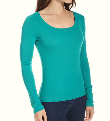 Michael Stars Supima Long Sleeve Scoop Neck Top