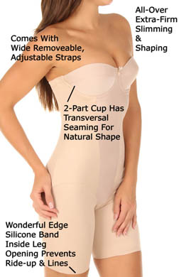 Miraclesuit Strapless Thigh Slimming Bodybriefer